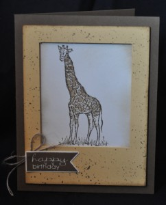 Zoo Review stamp set, Banner Greetings stamp set, So Saffron, Soft Suede, Very Vanilla